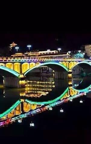 桥梁河岸亮化